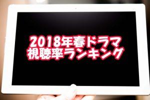 【2018年4月~6月期】春ドラマ視聴率ランキング